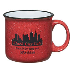 Customized 15 oz. Red Ceramic Campfire Mug
