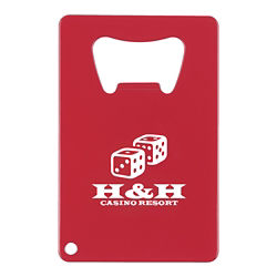 Customized Credit Card Shaped Bottle Opener