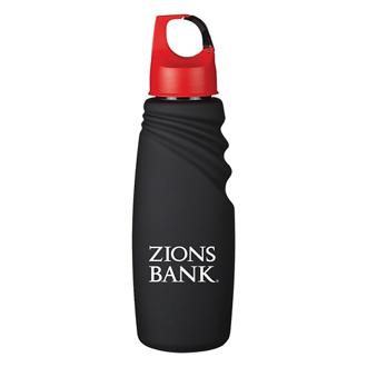 Customized Matte Finish Crest Carabiner Sports Bottle - 24 oz