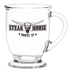 Customized Café America Glass Mug - 16 oz