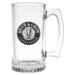 Customized Thumbprint Glass Tankard - 25 oz