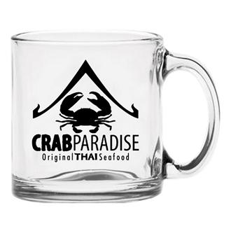 Customized Clear Glass Coffee Mug - 13 oz