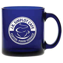 Customized Midnight Blue Glass Coffee Mug - 13 oz