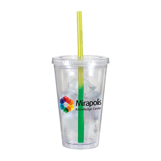 Customized Victory Acrylic Tumbler w/Mood Straw 16oz