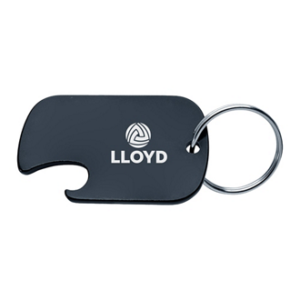 Customized Dog Tag Bottle Opener Key Ring