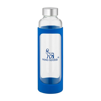 Customized Tioga Glass Water Bottle - 20 oz