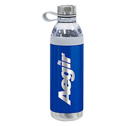 Customized Double-Walled Tia Dual Lid Water Bottle - 20 oz