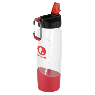 Customized Tritan™ Perry Water Bottle with Carabiner - 28 oz