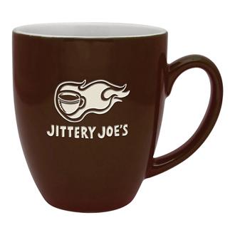Customized Duo-Tone Bistro Ceramic Mug - Etched - 16 oz