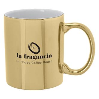 Customized Iridescent Ceramic Mug - 12 oz