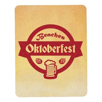 Customized Full Color 60 Point Rectangle Pulp Board Coaster