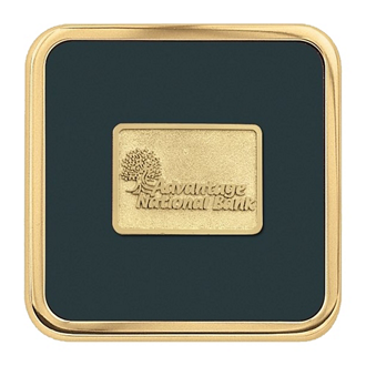 Customized Jaffa® Brass Square Coaster