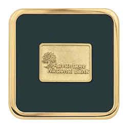 Customized Jaffa® Brass Square Coaster