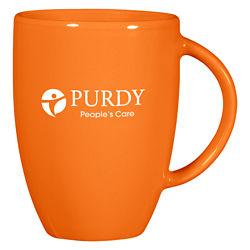 Customized 12 oz. Orange Europa Mug