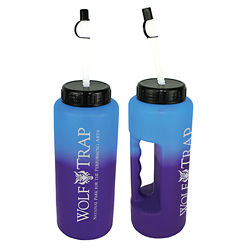 Customized 32 oz. Mood Grip Bottle with Flexible Straw