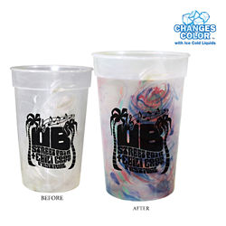 Customized 17 oz Rainbow Confetti Mood Cup