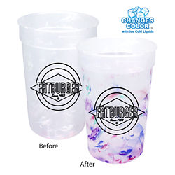 Customized 22 oz Rainbow Confetti Mood Cup