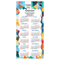 Customized Britebrand™ Deluxe No. 10 Envelope Sized Calendar Magnet