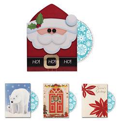 Customized Britebrand™ Warm Wishes Holiday Card w/ Personalized CD