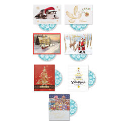 Customized Happy Holidays Card with Personalized CD