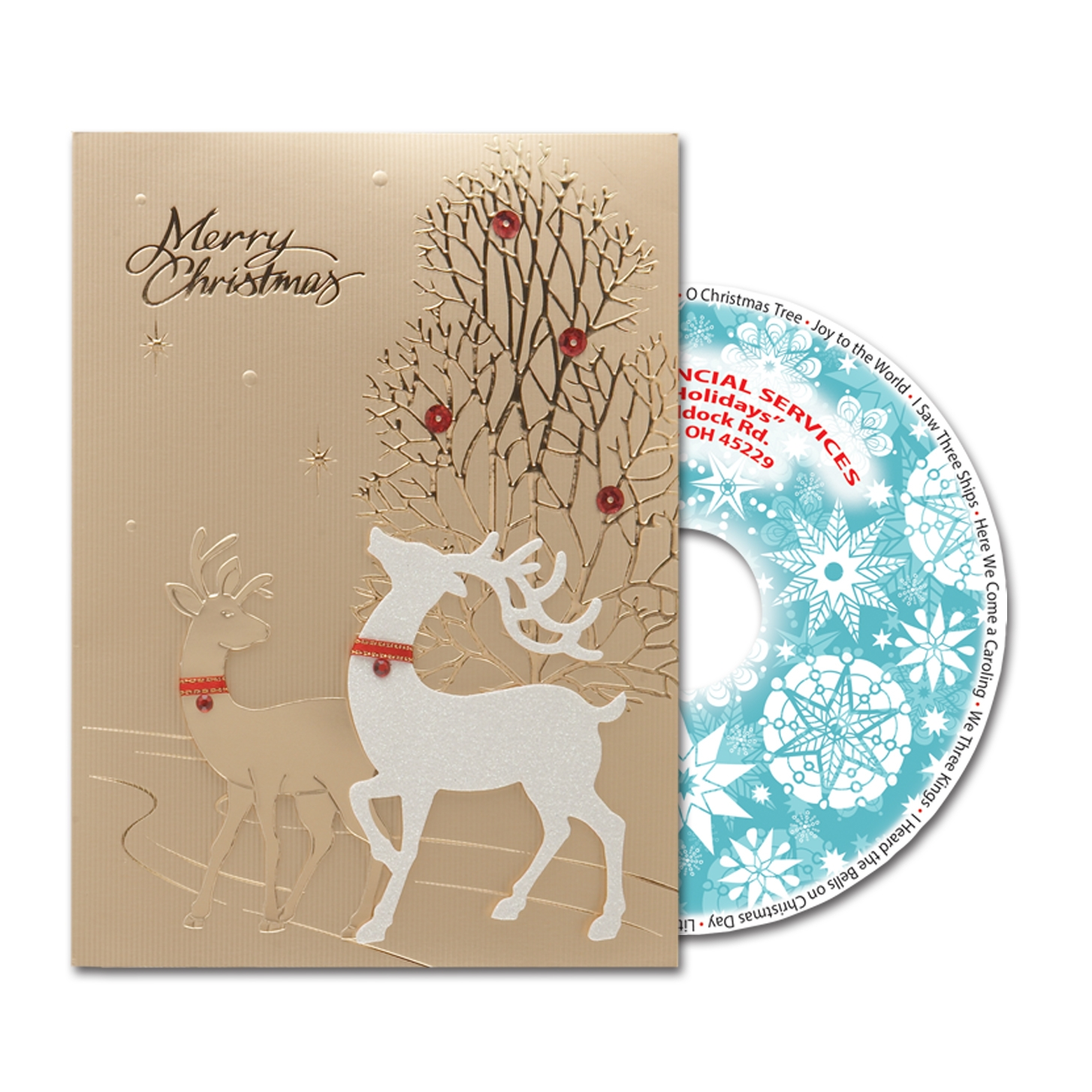 Holiday Card with Personalized CD
