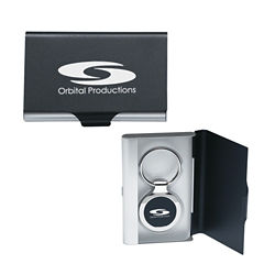 Customized 2 in 1 Key Tag/Business Card Holder