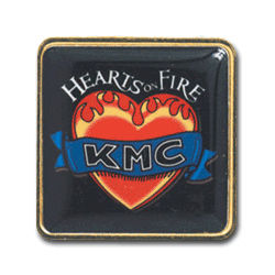 Customized Full Color 1''x1'' Brass Lapel Pin