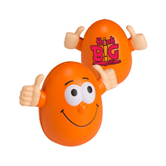 Customized Smiling Egg Wobbly Stress Reliever
