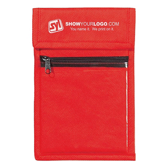 Customized Non-Woven Neck Wallet Badge Holder