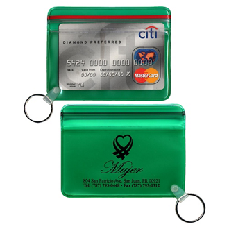 Customized Translucent Waterproof Wallet w/ Key Ring