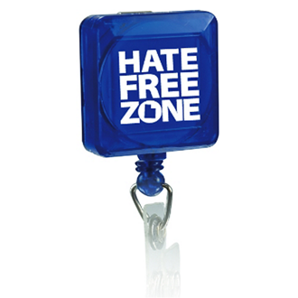Customized Retractable Square Badge Holder with Slip Clip