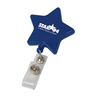 Customized Star Retractable Badge Holder