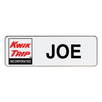 Customized Full Color 3''x1'' Rectangle Name Badge
