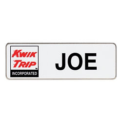 Customized Full Colour 3''x1'' Rectangle Name Badge