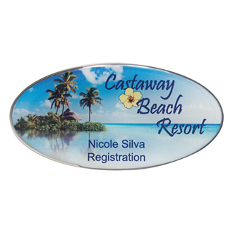 Customized Oval Name Badge - 3