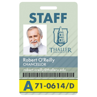 Customized GoodValue® Vertical Name Badge - Full Color