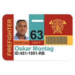 Customized Good Value™ Horizontal Name Badge - 3 3/8