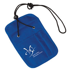 Customized Credential Holder with Zipper Pocket