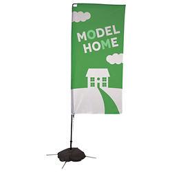 Customized 7' Vertical Advertising Flag Banner Kit