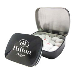 Customized White Candy Coated Chocolate Buttons in Custom Tin
