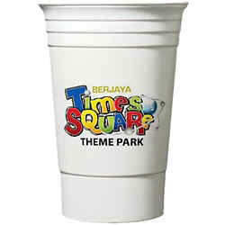 Customized Double Wall Party Cup - Full Color - 16 oz