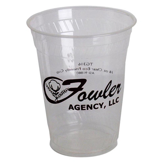 Customized Eco-Friendly Clear Cups - 16 oz