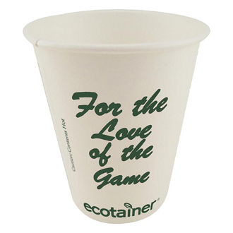 Customized Eco-Friendly Solid White Cups - 12 oz