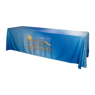 Customized 8' Satin Standard Table Throw