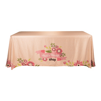 Customized 6' Satin Economy Table Throw