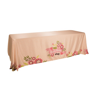 Customized 8' Satin Economy Table Throw