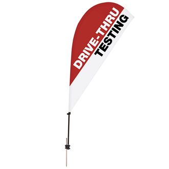 Customized 6.5' Tear Drop Value Streamline Sail Sign Kit