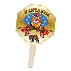 Customized Full Color Stop Sign Shape Hand Fan