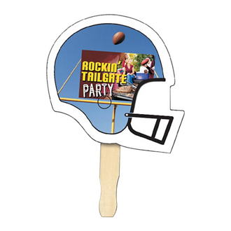 Customized Full Colour Football Helmet Hand Fan