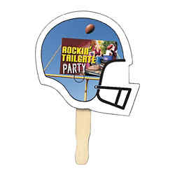 Customized Full Color Football Helmet Hand Fan